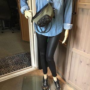 Pants - 🆕 matte faux leather leggings sz small